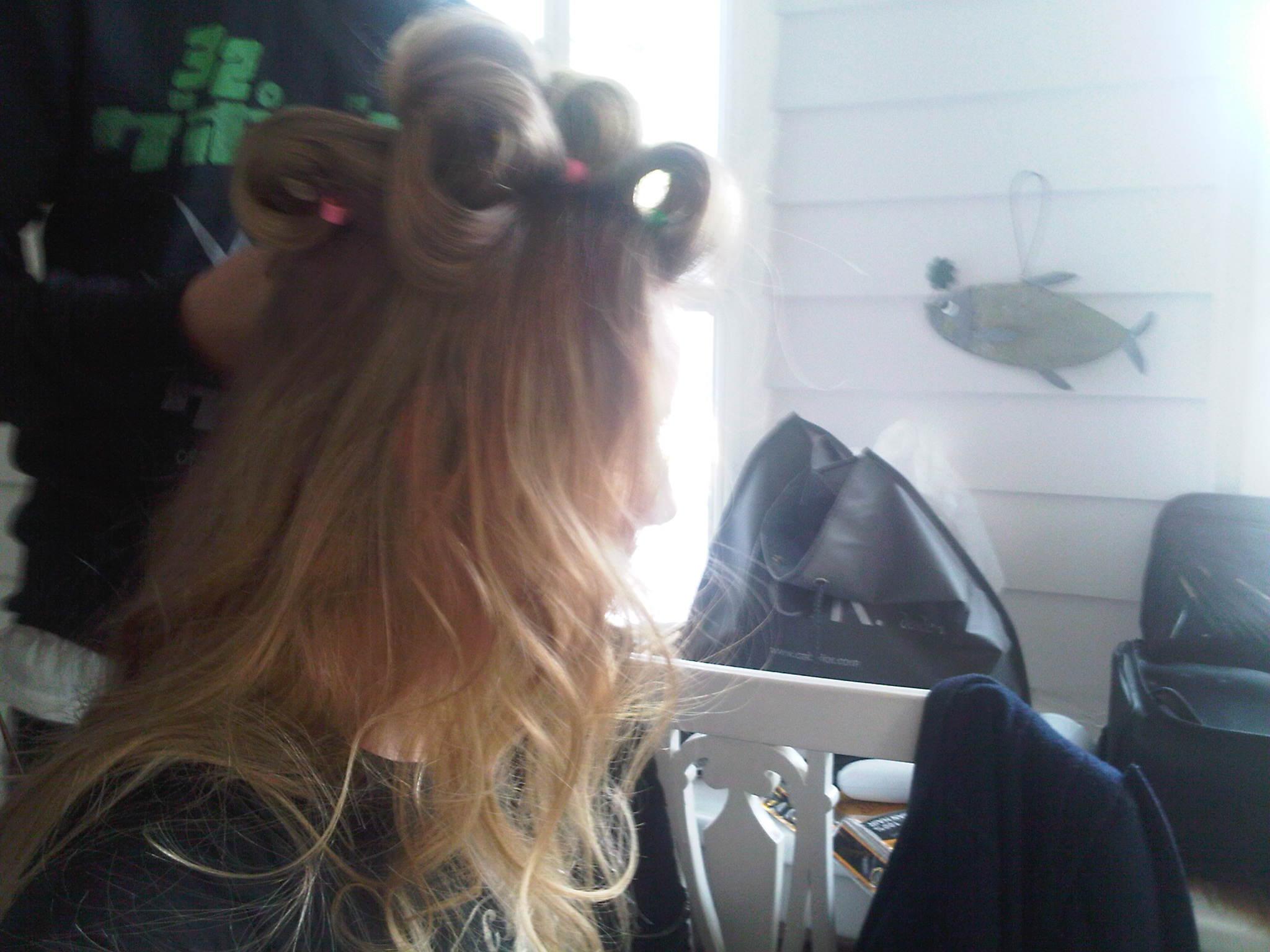 Renata Zanchi - Madrid - Under David's magic hands!! Curly time :-)