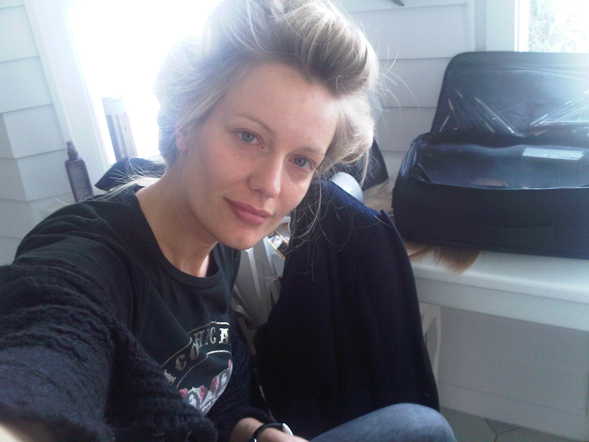 Renata Zanchi - Madrid - Waiting for Make Up...and the miracle of the day!! :-) :-)