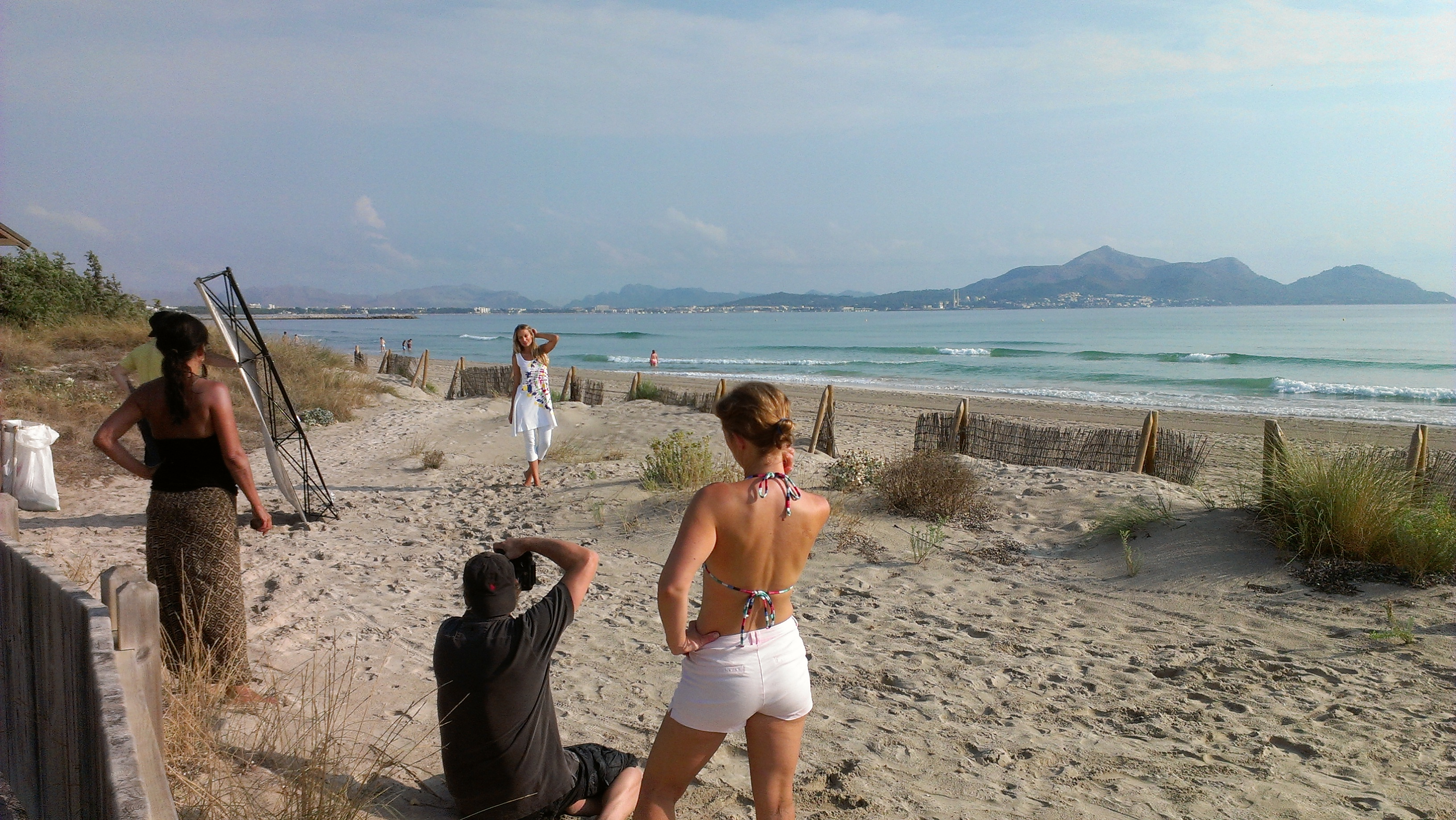 Renata Zanchi - Shooting under the hot Spanish sun in Mallorca - September 2012