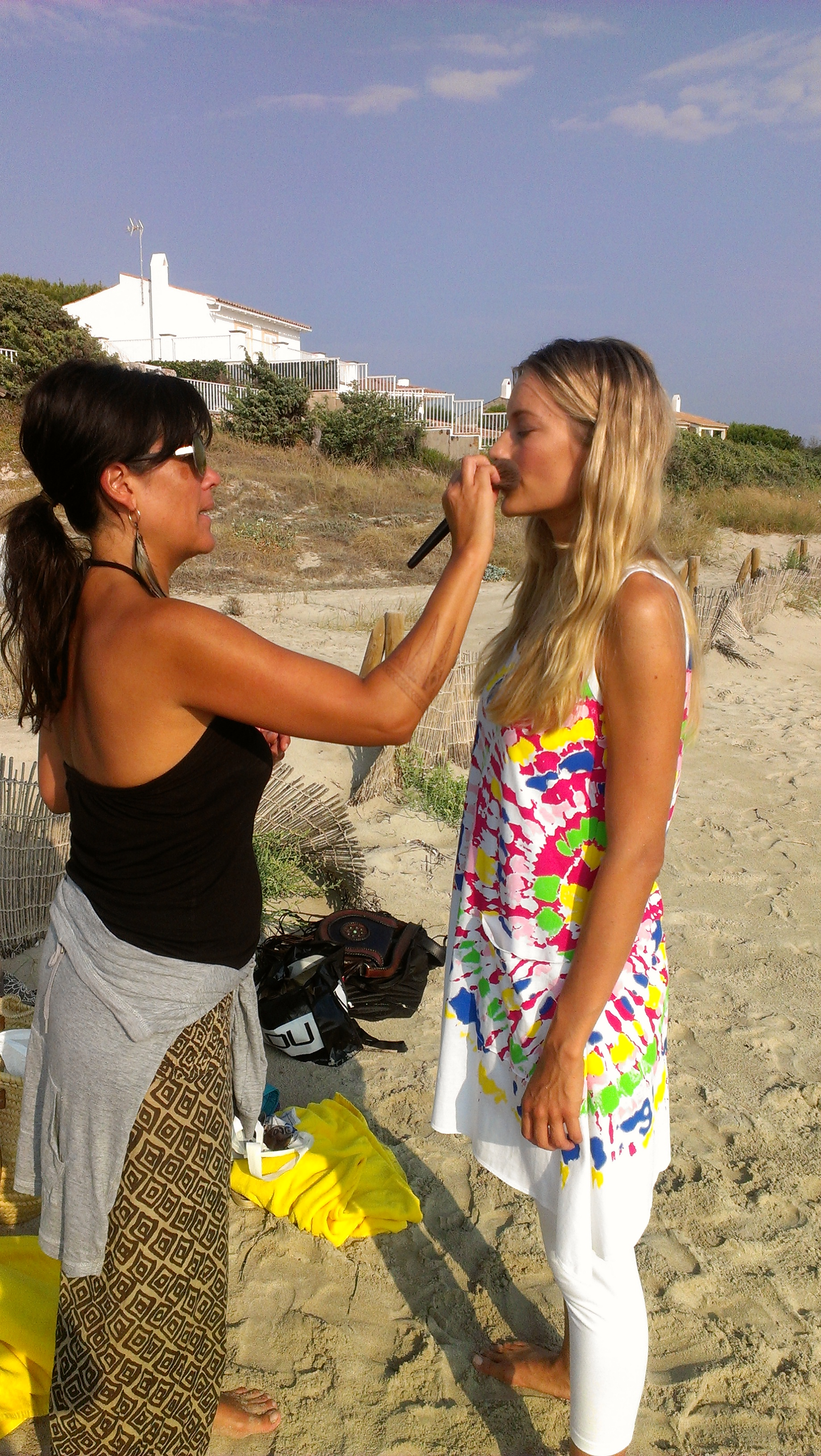 Renata Zanchi - Make-up retouch with our super danish make-up artist, Naia!