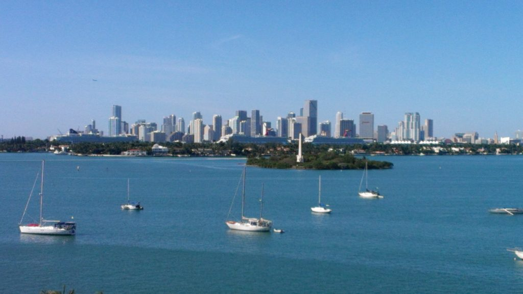 """The beautiful Skyline of Miami Bay. """