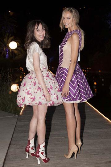 """With Teresa Helbig at Telva Gala in Barcelona."""