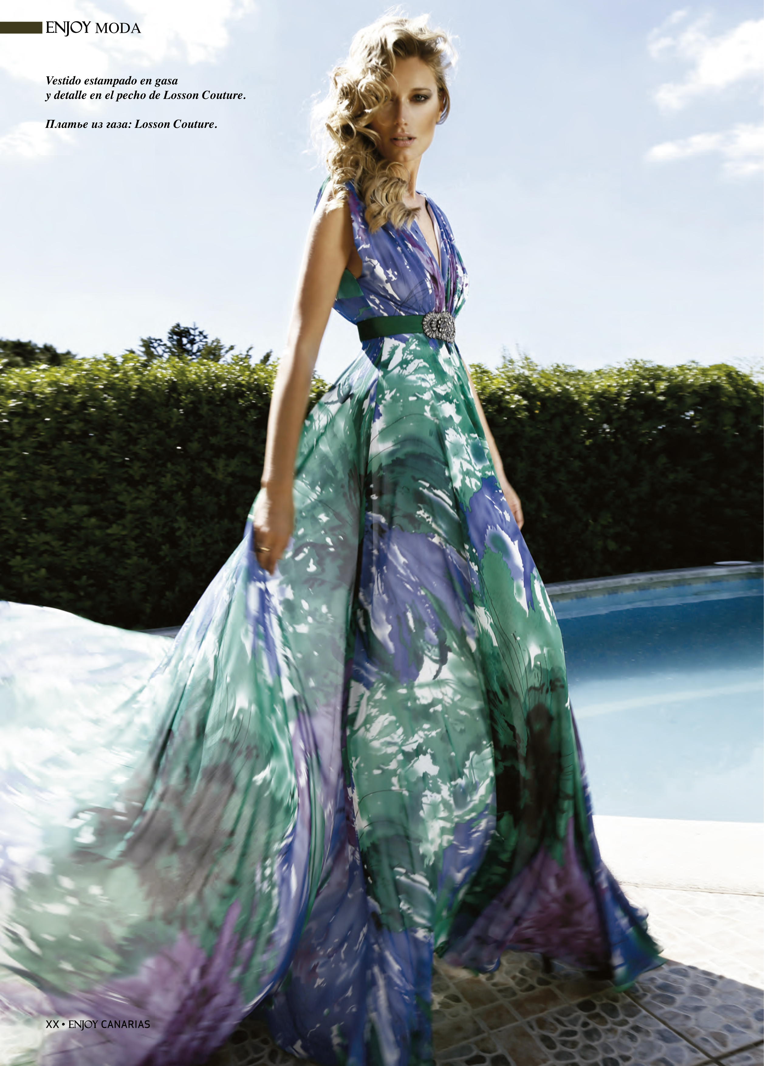 """""""My favourite picture! Gorgeous long dress by Losson Couture."""""""