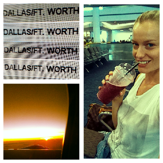 """Fly with me -and my wild blueberry smoothie- from Miami to Dallas."""