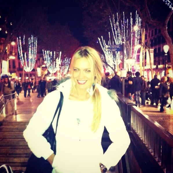 """Renata Zanchi. Merry Christmas from Las Ramblas, Barcelona. """