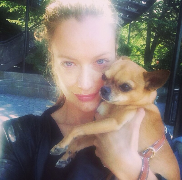 """Walking on the Hudson. Giulio missing Daddy ♥"""