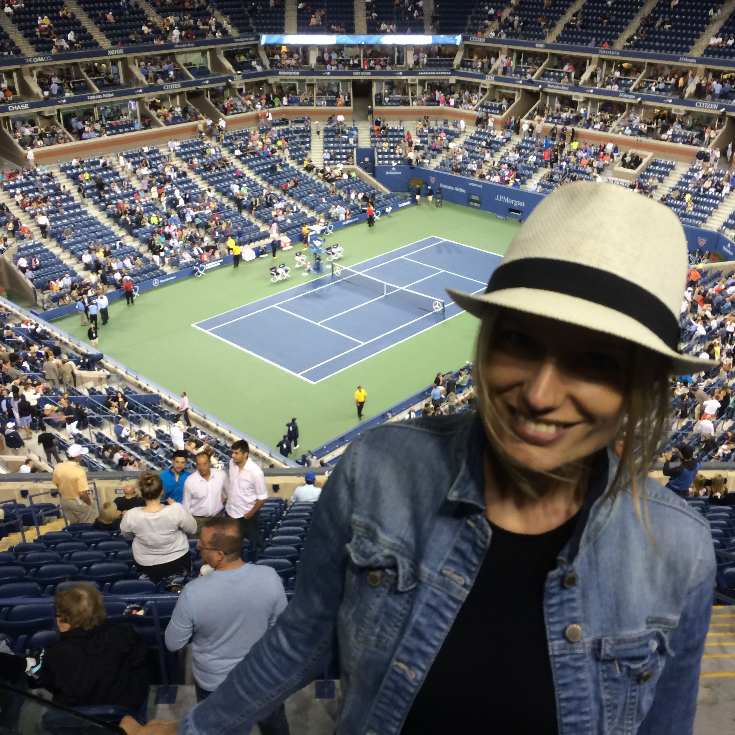 """""""@ the US Open. Waiting for Roger Federer. That day won ;-)"""""""