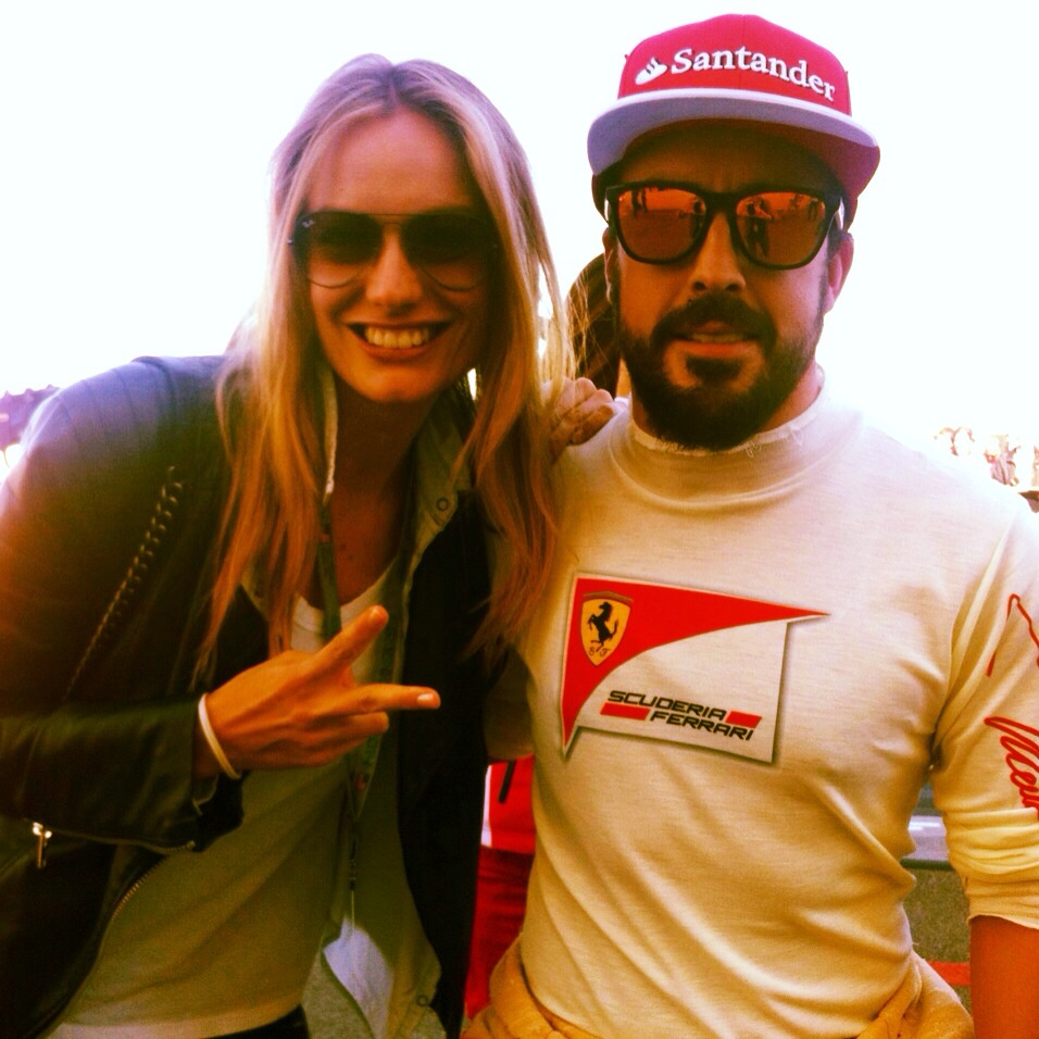 """""""Of course I couldn't miss a picture with Fernando Alonso ;-)"""""""
