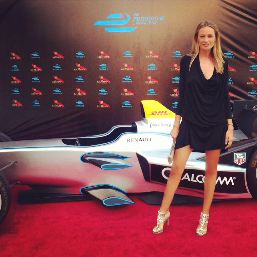 At the @FiaFormulaE Gala Dinner. With my @SerenaWhitehaven #minelli shoes, of course.