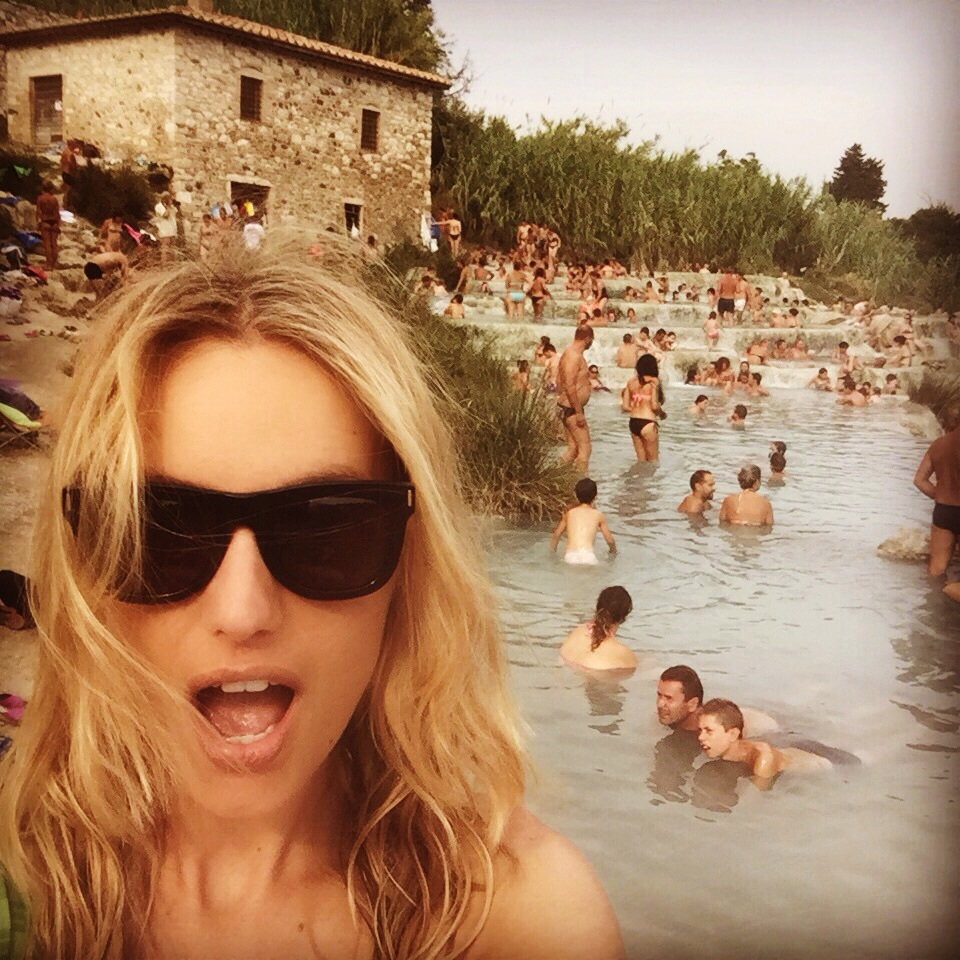 They told me Italians in August do NOT go to Thermal Springs. Shocked in Saturnia.
