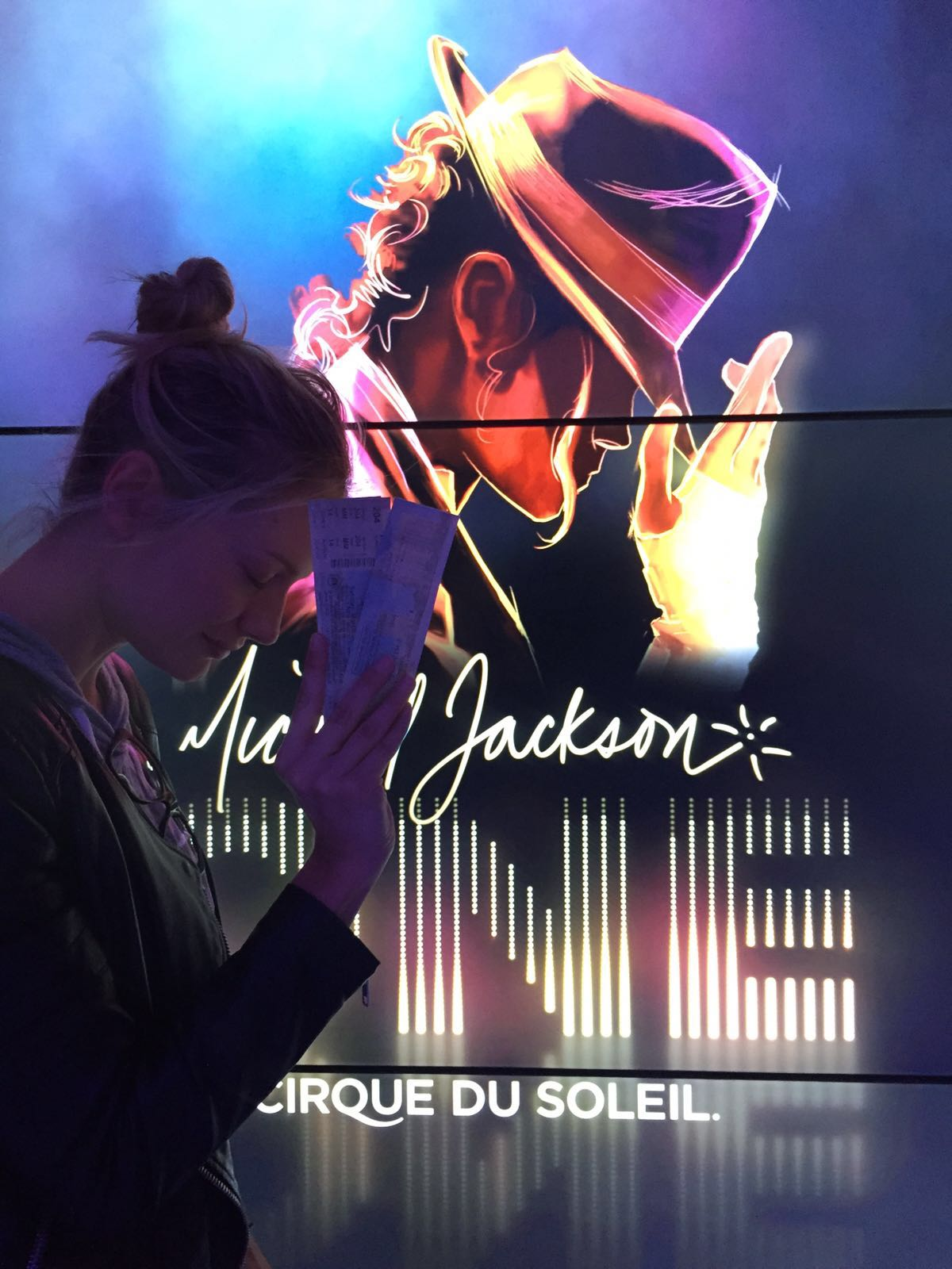 Michael was dancing with Cirque Du Soleil at the Mandalay. Goosebumps.